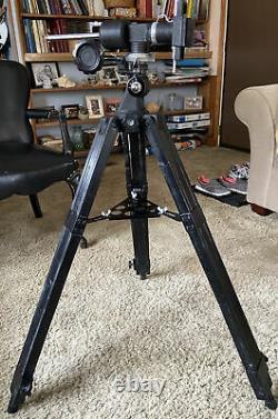 Vintage Telescope Eq Mount & Wooden Tripod EUC