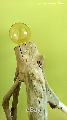 Vintage Tripod Lamp- MINIMALIST DESIGN, UNIQUE VINTAGE STYLE-Edison-Sea Driftwood