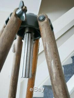 Vintage Tripod Wooden Surveyors Industrial Light Lamp Project Decor