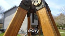 Vintage Tripod X80 A8 Military Wood & Metal extends Adjustable from 35 to 63