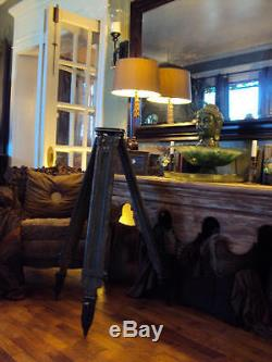 Vintage Us Military Wild Heerbrugg Theodolite Wooden Tripod