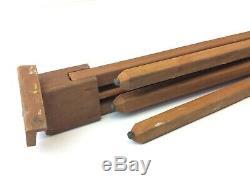 Vintage Used Folding Three Legged Unusual Tripod Easel Artwork Display Wooden