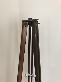 Vintage WOOD TRIPOD camera stand Industrial Light Lamp wooden antique Loft Decor