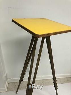Vintage WOOD TRIPOD rustic decor transit light stand survey industrial wooden