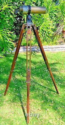 Vintage WW1 Antique CT&S Spotting Scope Telescope & Tripod