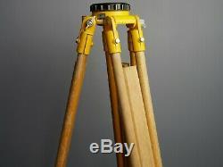 Vintage Watts wooden surveyors tripod theodolite theatre lamp light