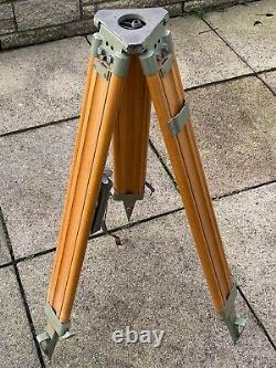 Vintage Wild Heerbrugg Wooden Tripod with Original Pouch & Contents Fabulous