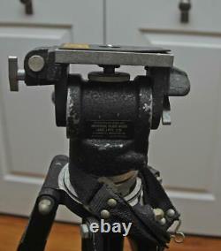 Vintage Wood Camera Tripod Universal Fluid Head
