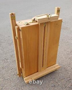 Vintage Wood Easel Grumbacher #286 France Plein Air Travel Wood Tin Lined