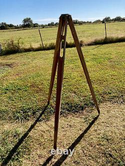 Vintage Wood Keuffel & Esser Co. K&E Surveying Transit Tripod Stand Model 6178 N
