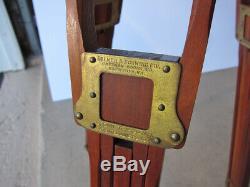 Vintage Wood Kodak Folmer & Schwing Crown Tripod No. 1