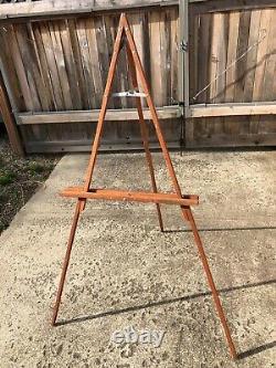 Vintage Wood Quaker Tripod Painters Easel 58 When Standing