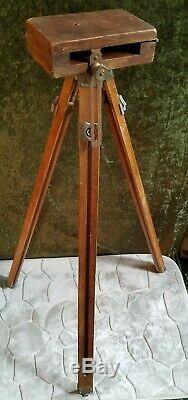 Vintage Wood Sharman Adjustable Camera Tripod 31-55