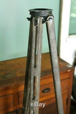 Vintage Wood Transit Tripod 59 D. W. Co Milwaukee Old Tool Lamp Base Decor