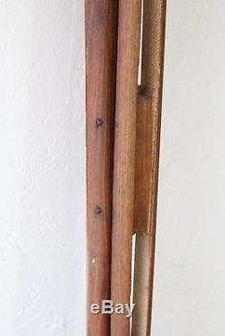 Vintage Wood Tripod 60 Wooden Legs for Telescope Camera Transit Light Lamp