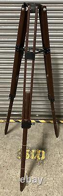 Vintage Wood Tripod, Adjustable