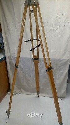 Vintage Wood Tripod, Extendable Legs