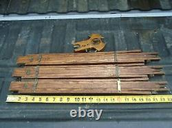 Vintage Wood Tripod Transit Camera 57 to 24 Oak withBrass Hardware and Tips
