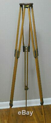 Vintage Wood and Brass Rochester Optical Camera Tripod