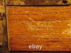 Vintage Wooden Brass No. 2-1/2 Tripod