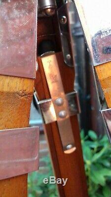 Vintage Wooden Chrome TRIPOD in BOX CAMERA /NAUTICAL THALHAMMER LAST WEEK EBAY
