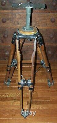 Vintage Wooden Motion Picture Camera Supply Tripod Movie Television Steampunk
