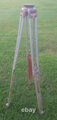 Vintage Wooden Survey Tripod Rustic For Restoration