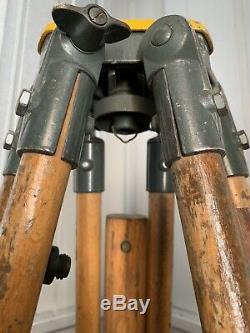 Vintage Wooden Surveyors Tripod Theodolite Industrial. Hilger & Watts