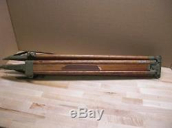 Vintage Wooden Swiss Made Tripod For Wild Heerbrugg Level