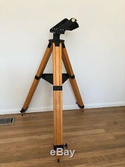 Vintage Wooden Tele Vue Telescope Wood GIBRALTAR TRIPOD ASH