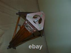 Vintage Wooden Tripod 140cm 55'' Heavy duty Camera Theodolite 35mm 16mm soviet