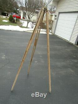 Vintage Wooden Tripod / Camera / Surveyors 60 inches Long Used