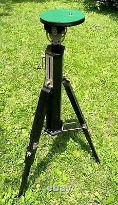 Vintage Wooden Tripod With Metal Gearing And Parts. Perfect Original Condt