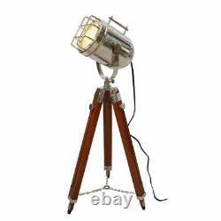 Vintage nautical searchlight marine 45 spotlight retro tripod floor lamp decor