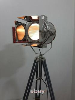 Vintage retro Theater Home Decorative Vintage Spotlight with Grey Tripod light
