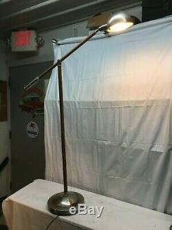 Vintage wood Tripod Folding Doctors Exam Floor Lamp Steam Punk