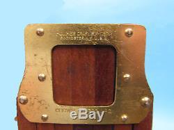 Vintage wood tripod Folmer Graflex Crown #2 original base mounting board straps