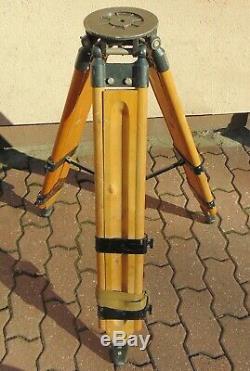 Vintage wood tripod, stand, Theodolite, Theo, loft, lamp