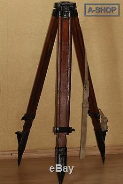 Vintage wooden Tripod made in USSR Soviet for Theodolite Nivelir Camera