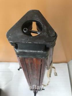 Vintage wooden Tripod made in USSR Soviet for Theodolite Nivelir Camera Survey