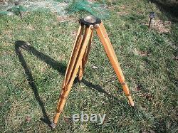 Vintage wooden survey tripod