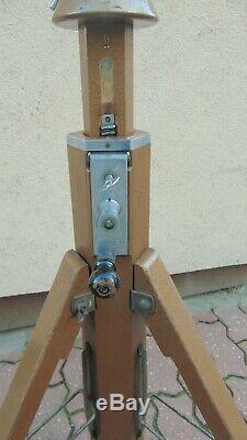 Vintage wooden tripod BERLEBACH MULDA vintage, theodolite, loft, lamp