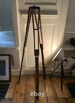 Vintage wooden tripod beautiful finish and details Antique