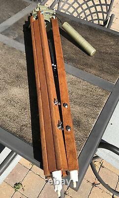 Vixen Wooden Adjustable Tripod With Custom D Altazimuth Mount Vintage Rare