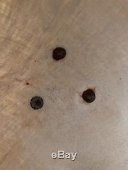 Vtg 16.5Tall Fiberglass Bullet Burlap Planter Pot Tripod Wood Legs Mid Century