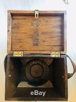 W & L E Gurley Vintage Wood Brass Surveyors Transit Tripod Scope Transit Survey