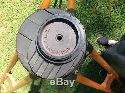W & L E Gurley Vintage Wood & Brass Surveyors Transit Tripod VG used Cond sturdy