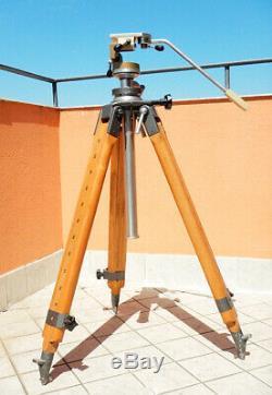 Wooden Tripod Cavalletto in Legno Excellent Condition Treppiede Linhof Vintage