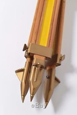Wooden Tripod Lamp Vintage Lampie Stativ WILD HEERBRUGG