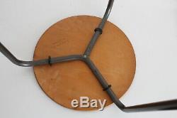 2 Fritz Hansen Jacobsen Vtg MID Century Danish Modern Dot Tabouret Trépied Table Dwr